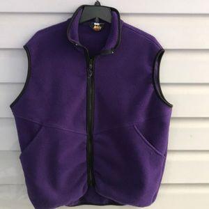 REI Purple Polar Fleece Zip Up Vest